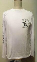 Bones Sportswear Wit heren t-shirt lange mouw Maat L