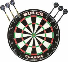 Merkloos / Sans marque Professioneel dartbord Bulls The Classic incl 2 sets dartpijlen 22 grams - Sportief spelen - Darten/darts - Dartborden voor kinderen en volwassenen.