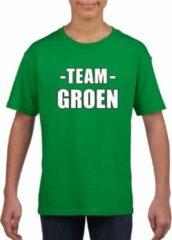 Bellatio Decorations Sportdag team groen shirt kinderen XL (158-164)