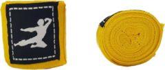Bruce Lee Boks Bandage - Boxing Wraps - Boksbandages - Kickboks bandage - Paar - 250 cm - Geel