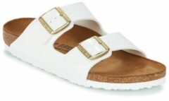 Witte Birkenstock Arizona Slippers