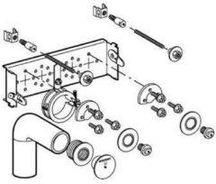 Geberit Gis montage element voor wastafel 461039001