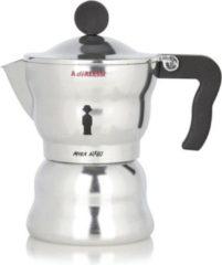 Zilveren Alessi Moka espresso koffiemaker 1 kops