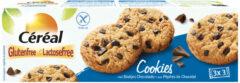 Cereal Cookies met stukjes Chocolade Glutenvrij En Lactosevrij - 3x150 gr - Voordeelverpakking