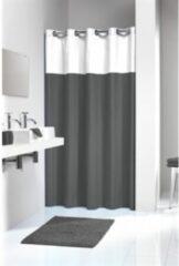 Sealskin douchegordijn Double polyester/katoen grijs/wit 180x200 cm