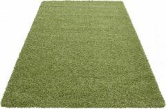 Himalaya Basic Shaggy vloerkleed Groen Hoogpolig - 80x150 CM