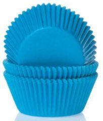 Blauwe House of Marie MINI Cupcake Vormpjes Cyaan Blauw pk/60