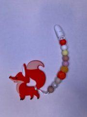 Oranje Ricama Speenhanger vos