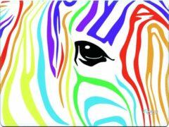 Witte Muismat gekleurde zebra - Sleevy - mousepad - Collectie 100+ designs