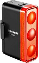 Zwarte Ravemen TR300 USB Rechargeable Rear Light - Achterlichten