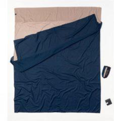 Cocoon - Travelsheet Doublesize Egyptian Cotton - Reisslaapzak maat 220 x 176 cm - Double, blauw