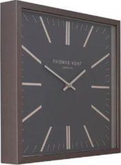 Antraciet-grijze Grote XL Vierkante Square Klok Thomas Kent Design - Anthraciet Grijs Klassiek - Ø56,5CM