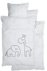Witte Done by Deer Dreamy Dots Overtrek White 70 x 100 cm