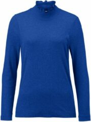 Shirt met lange mouwen en opstaand kraagje Van Efixelle blauw