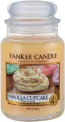 Oranje Yankee Candle Vanilla Cupcake geurkaars - 18 x 10 cm - Kruidig