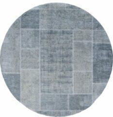 Donkergroene Veercarpets Vloerkleed Mijnen - Rond - ø200 cm - Donker Groen - Patchwork