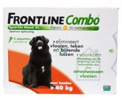 Merial Frontline Combo - XL: van 40 tot 60 kg - Anti vlooienmiddel en tekenmiddel - Hond - 3 pipetten