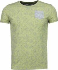 Black Number Blader Motief Summer - T-Shirt - Geel Blader Motief Summer - T-Shirt - Groen Heren T-shirt Maat L
