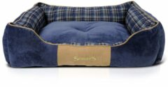 Scruffs Highland stijlvolle hondenmand - Blauw - XL 90 x 70 cm