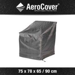 Antraciet-grijze AeroCover Loungestoelhoes hoge rug 75 x 78 x 65 tot 90