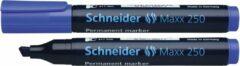 Marker Schneider Maxx 250 permanent beitelpunt blauw