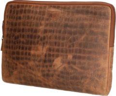 Old West San Angelo - Leren Laptopcover / Laptopsleeve - 17 inch - bruin