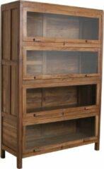 Bruine Raw Materials Kast - Vitrinekast - 107x40x162 cm - Teakhout