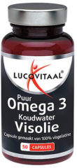 Lucovitaal - Koudwater Visolie Omega 3 Puur - 50 capsules - Visolie - Voedingssupplement