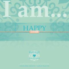 Heart To Get IAM414B-HAPPY-R Armband Happy zilver rosekleurig