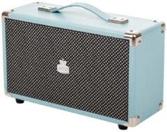 Blauwe GPO WESTWOOD Blue Nostalgische Bluetooth speaker