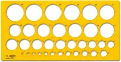 Arda Sjabloon rond 1 tot 35mm # 7125 + Gratis Pilot Fineliner