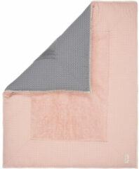 Roze Koeka Boxkleed wafel Amsterdam - shadow pink/steel grey 80x100cm