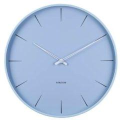 Lichtblauwe Karlsson Lure - Wandklok - Ijzer - Ø40cm - Hemelsblauw