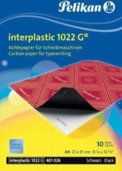 Zwarte Pelikan carbonpapier Interplastic 1022G etui van 10 blad