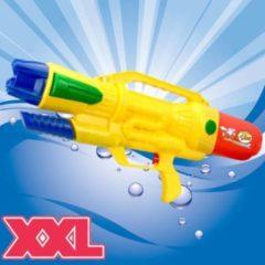 XL Waterpistool - Super soaker waterpistool voor jongens - Jumbo waterkanon - Dubbel Shots supersoaker water pistool voor kinderen - Waterspeelgoed Watergeweer - Water gun met groot water reservoir - Afm 63.5x10x26 Cm - 1.8 Liter - GEEL - Decopatent®