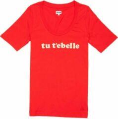 Rode Cheaque Dames Unisex T-shirt Maat S