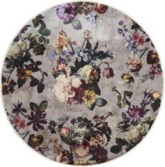 Grijze Essenza Vloerkleed Fleur Finest Grey-Ø 180cm rond