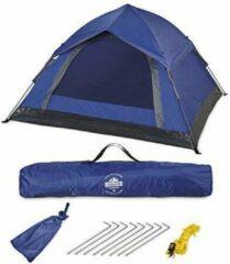 Lumaland - Pop Up tent - werptent 3 personen - 210 x 190 x 110 cm - Verkrijgbaar in verschillende kleuren - Blauw