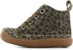 Shoesme Baby-Flex Leren loop schoen - Bruin leopard - Maat 20