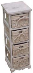 Möbel direkt online Moebel direkt online Massivholzregal Regal Vintage-Regal - Regal mit 4 Körben In 2 Farben lieferbar
