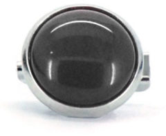 Qoss Broche Zwarte Steen - 12mm