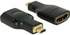 DeLOCK Micro HDMI - HDMI adapter - versie 2.0 (4K 60Hz) / zwart