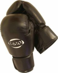 Zwarte Bokshandschoenen ECHT leer Tislo 16 Oz