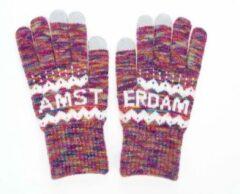 Robin Ruth Handschoenen Vrouwen Amsterdam fuchsia multi smart touch