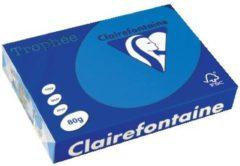 Papier kleur turkooiseblauw A4 80 g Clairefontaine Trophée levendige kleuren - Riem van 500 vellen