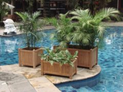 Express Bali teaken plantenbak 35x70x37 cm