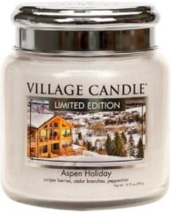 Village candle Village Geurkaars Aspen Holiday | jeneverbes cederhout pepermunt - medium jar