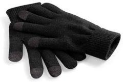 Merkloos / Sans marque Unisex Touchscreen handschoenen Zwart Maat XL