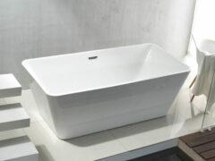 Sanigoods Quadro vrijstaand bad 180x80x60 rechthoekig glans wit