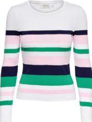 Witte Only Onlsally L/s Stripe Pullover Knt 15224448 Cloud Dancer/primrose